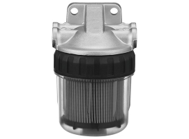 Water-fuel filter separator without water drain screw