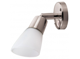 Articulated LED spotlight with switch