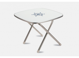 Forma folding aluminum deck table