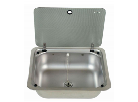 SQUARE SINK WITH GLASS LID CE99 B410L-I-G DOMETIC