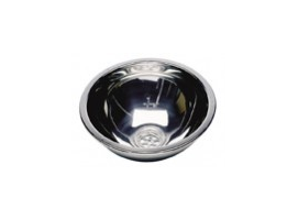 Hemispherical bathroom sink stainless steel