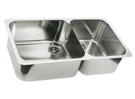 Double Sink stainless steel 600x320 mm