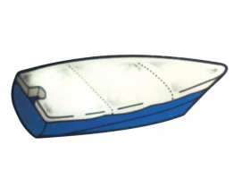 Flat Traditional Boat Cover