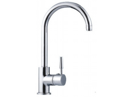 Swivelling Curve mixer for kitchen sinks