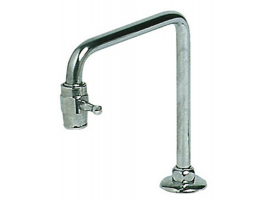 Telescopic swiveling faucet for sinks with fast locking tap