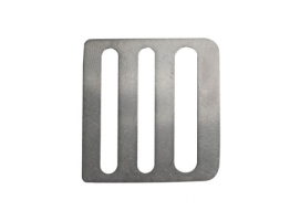 3-slit buckle made of stainless steel