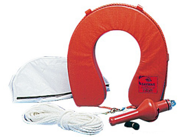 Horseshoe lifebuoy with cover
