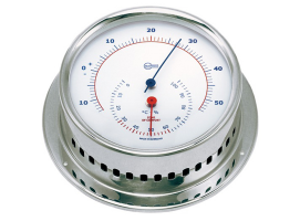 Hygrometer-Termometer Barigo Sky Stainless Steel Polished White Dial