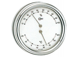 Hygrometer-Termometer Orion Silver Dial