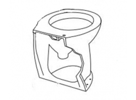 Jabsco-Bowl Angled Back WC Deluxe Flush 17 Inches