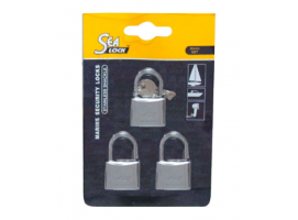 Set of 3 Padlocks Sea Lock 30mm with Joint Key