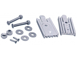 Quick coupling kit for stainless steel ladders