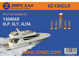 Anodes Kit for Yanmar 6LP, 6LY, 4LHA