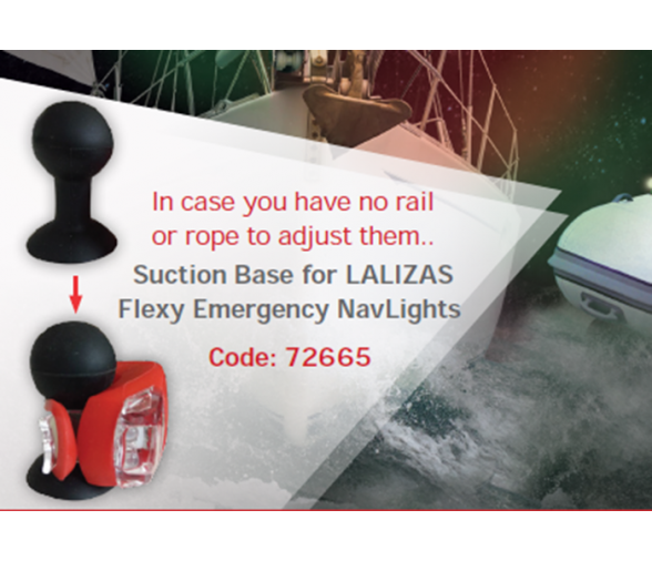 Lalizas Suction Base for Flexy Emergency Navlights