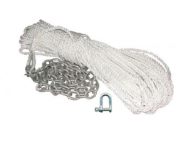 Full Mooring Rope 8 mm x 50 m and Chain 1.5 m