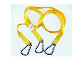 DOUBLE HARNESS TETHERS 2 M + 1 M 3 SCREW HOOKS