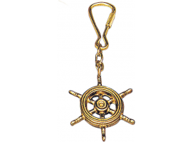 Bronze Wheel Key Ring