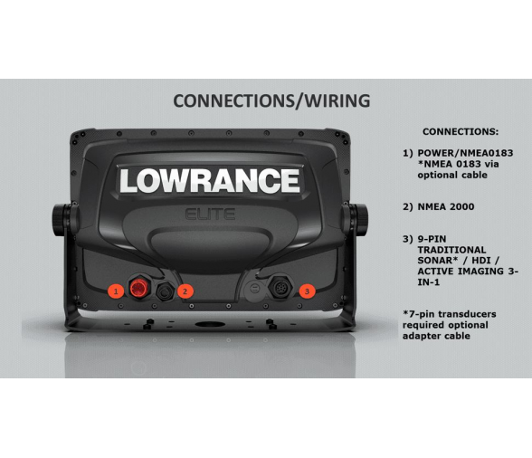 Lowrance GPS Plotter Elite-7 Ti2 ROW Active Imaging 3 in 1