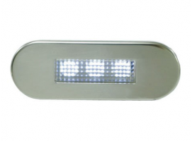 Courtesy 3 LED Lights Waterproof Stainless Steel Panel