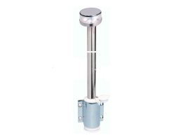 SS Light Pole 360 with Wall Mounting