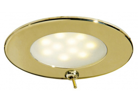 Atria LED Spotlight with switch golden