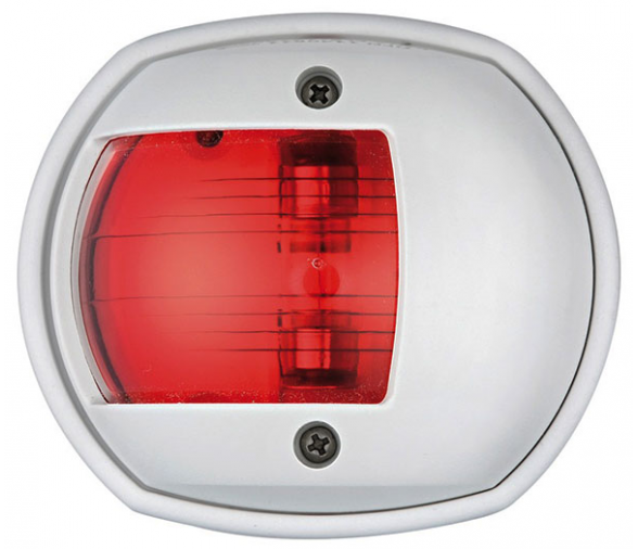 Compact 12 White Body Left Navigation Light