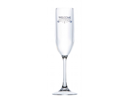 Marine Business Polycarbonate Champagne Glass Party Welcome to Life