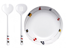 Marine Business Salad Bowl & Serve Cutlery Regata
