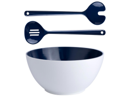 Marine Business Harmony  Blue Salad Bowl with Serve Cutlery