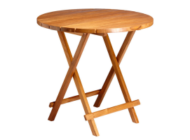 Marine Business Round Folding Table Teak