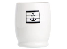 Marine Business Set Water Glass with Anchors Sea Lovers