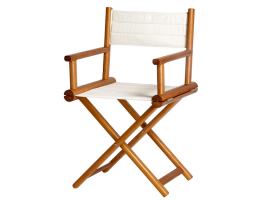 Marine Business Folding Director Chair Teak