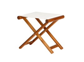 Marine Business Folding Stool Teak Olefin
