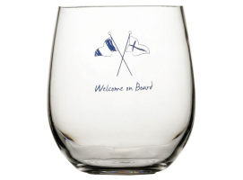 Marine Business Welcome On Board 6 Units Anti-Slip Water Glass