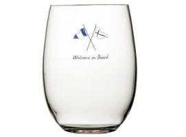 Marine Business Welcome On Board 6 Units Anti-Slip Beverage Glass