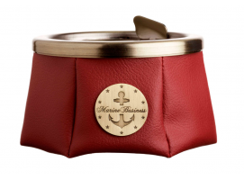 Marine Business Ashtray With Lid Premium Bordeaux