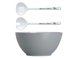 Marine Business Welcome On Board Salad Bowl with Salad Servers