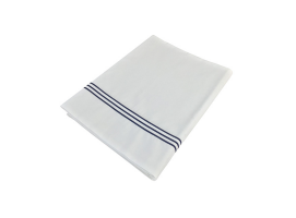 Marine Business Countertop Sheet and Double White Pillowcase, Santorini