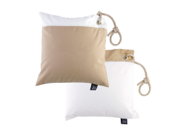 Marine Business Set Anti-Wind Cushions With Beige Cape, Waterproof