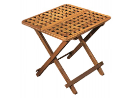 Teak foldable table