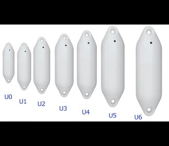 6 Tama/ños Original Ocean Defensa para Barcos de la serie U Defensa Barcos  Defensa forma Alargada  Protecci/ón de Rodapi/é en blanco Defensa /Óptima para su barco