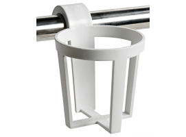 Osculati Plastic Universal Glass Holder for Snap-in Mounting on Pulpits and Hand