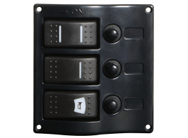 Osculati Electric Panel 3 switches finish graphite