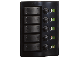 Osculati Electric Panel 5 switches finish graphite