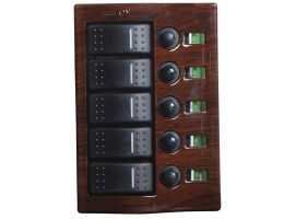 Osculati Electric Panel 5 switches finish wood