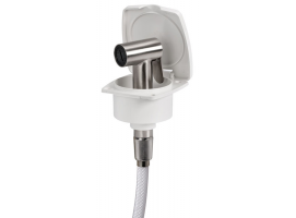 Osculati Classic Edge Shower Box with Tiger Stainless Steel Shower