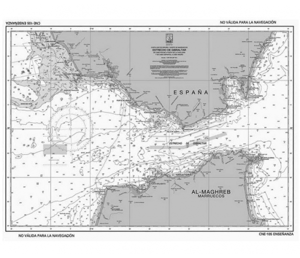 Pack 5 Nautical Chart for Examination (Strait of Gibraltar)