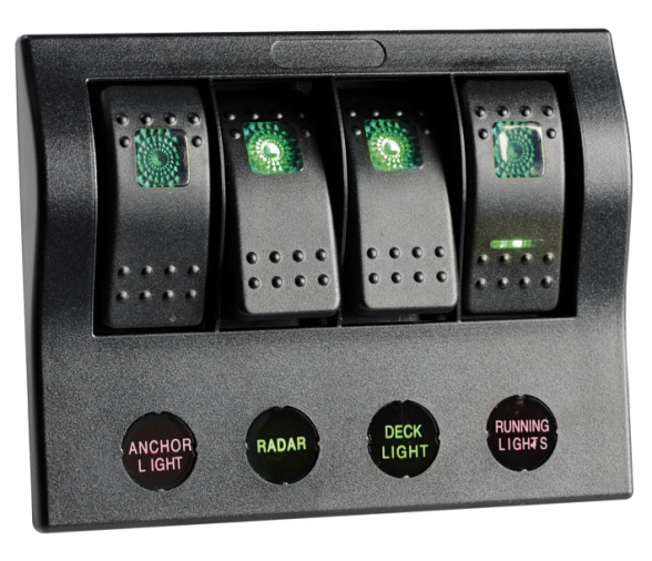 PCP LED Electrical Panel with 4 Switches