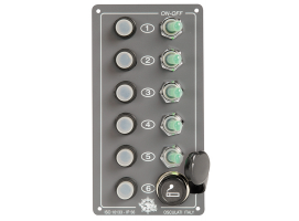 Elite Vertical Electrical panels IP 56 5 light switches lighter plug