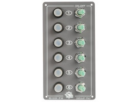 Elite Vertical Electrical panels IP 56 6 light switches